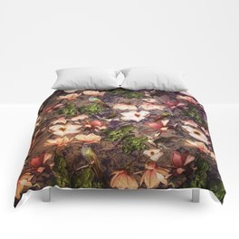 Magnolias and Hummingbirds Comforters