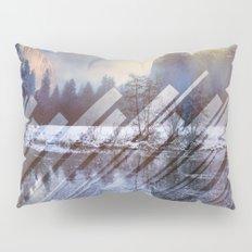 Winter Sun Rays Abstract Nature Pillow Sham
