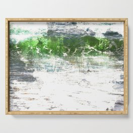 Loving the Waves series - Green 1 Serving Tray