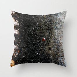 Abstract wall grey painting Throw Pillow