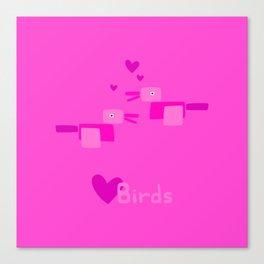 Love Birds-Pink Canvas Print