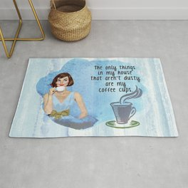 No Dusty Coffee Cups Here Rug