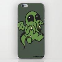 cthulu iPhone & iPod Skins featuring Cute Cthulu  by Nikki Hung