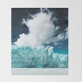 perito moreno glacier Throw Blanket