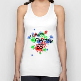 I Survived Chapter 55 (White) Unisex Tank Top