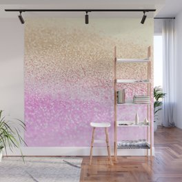 GOLD PINK GLITTER by Monika Strigel Wall Mural
