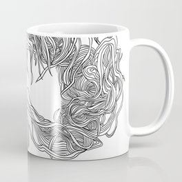 Hair in the Wind, in transparent/black Coffee Mug