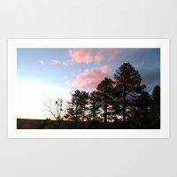 Red cloud at Grand Canyon Art Print