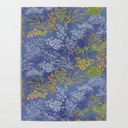 Vintage Japanese floral pattern Poster