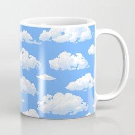 White fluffy clouds pattern Coffee Mug