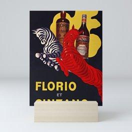 Florio CINZANO Vintage Ad 1930 Drink Poster Mini Art Print