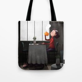 Bewitched pumpkin coffee Tote Bag