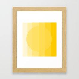 Sun shades Framed Art Print