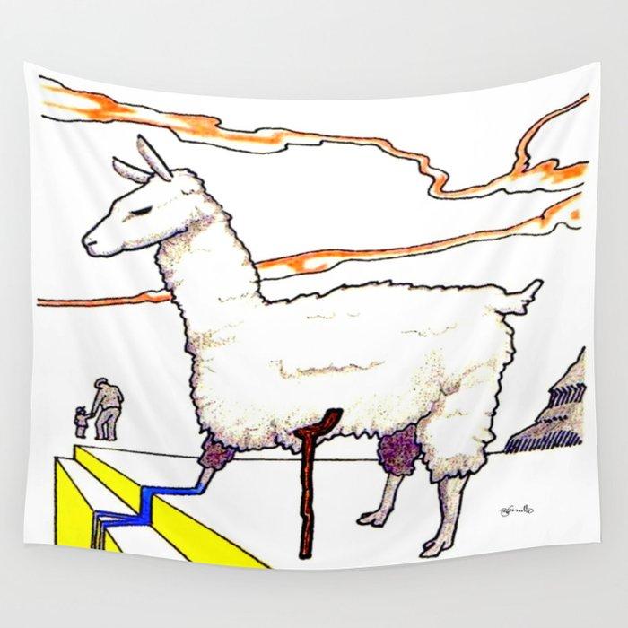 Dali Llama Wall Tapestry