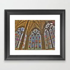 Windows of Westminster Abbey Framed Art Print