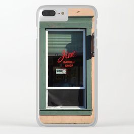 Sign, Jim's Barber Shop Clear iPhone Case