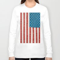 novelty Long Sleeve T-shirts featuring USA by Bianca Green
