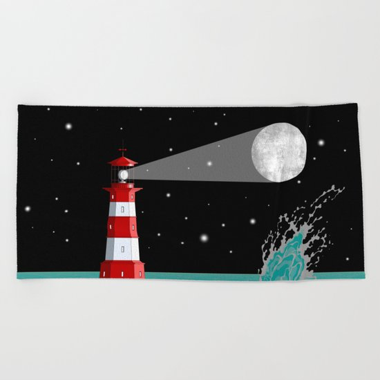 Moon Maker Beach Towel