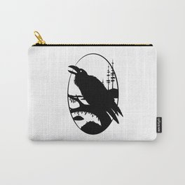 Raven Silhouette IV Carry-All Pouch