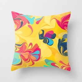 Flowers in the Wind 5 Throw Pillow
