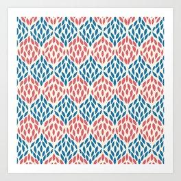Organic pattern red and blue. Art Print