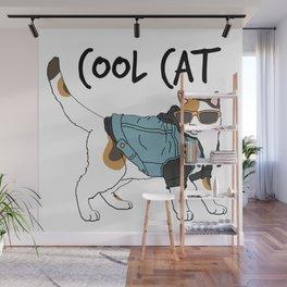 Cool Cat Wall Mural