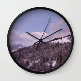 Purple Moutain Mont Blanc Wall Clock