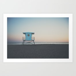 sunset on the coast ... Art Print