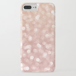 Rosegold Glitter Bokeh Glam Pattern iPhone Case
