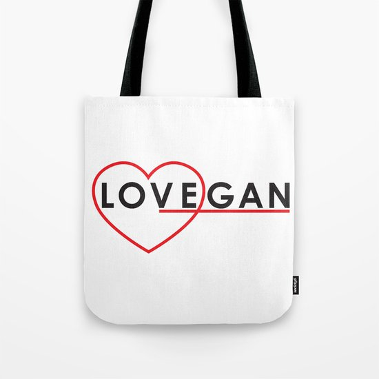 LOVEGAN (Love Vegan) Tote Bag
