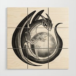 Scrying Dragon Wood Wall Art