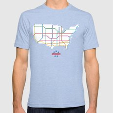 Interstate Mens Fitted Tee Tri-Blue SMALL