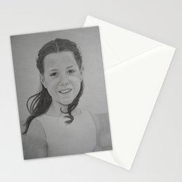 The girl in white dress Stationery Cards