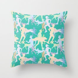 Canicross Silhouette Throw Pillow