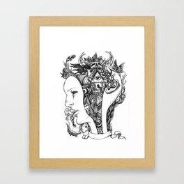 Open my mind Framed Art Print