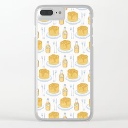 Cute vector pancake day breakfast illustration Clear iPhone Case