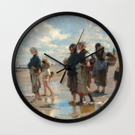 Setting Out to Fish Oil Painting by John Singer Sargent Wall Clock