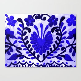 Strange Love Blue Canvas Print