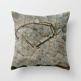 Egon Schiele - Autumn Tree in Stirred Air / Winter Tree (1912) Throw Pillow