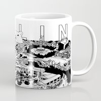 berlin Mugs featuring Berlin by Javier Medellin Puyou aka Jilipollo