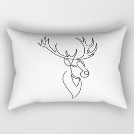 stag one line Rectangular Pillow