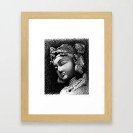 Woman Face Framed Art Print