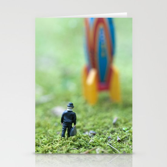 Rocket Man Stationery Cards