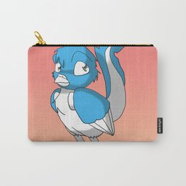 Light Blue/Color-Or-Paint-Your-Own Reptilian Bird 2 #ArtofGaneneK #Animal Carry-All Pouch