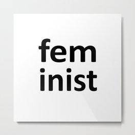 feminist minimalist design Metal Print