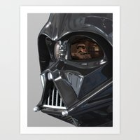Darth Vader Playboy Flagrant Art Print
