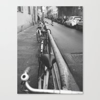 bikes Canvas Prints featuring Bikes by Shalyn Dawn