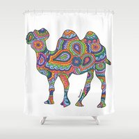 camel Shower Curtains featuring Camel  by Shanaabird