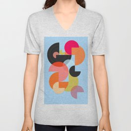 Abstract Composition 624 Unisex V-Neck