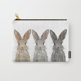 Triple Bunnies Carry-All Pouch